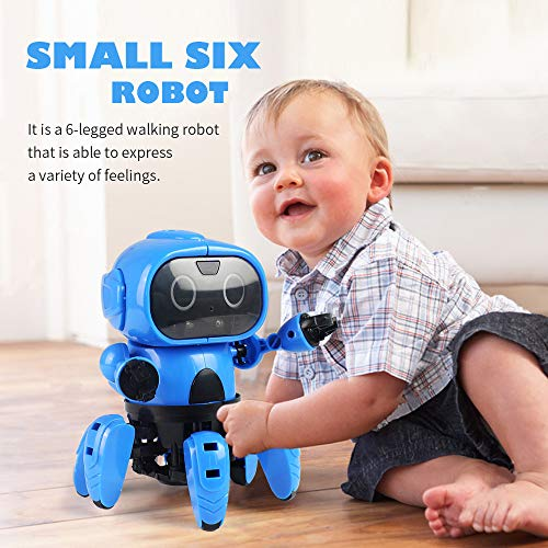 Interactive Robot Walking Smart Robot Senses Gesture Control Toy, Gifts Kids PSFS (Blue)