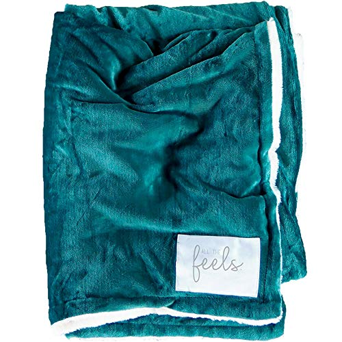 All the Feels | Extra Cozy Reversible Blanket | Super Soft | Machine Washable | King | Color- Botanical Green | You Buy One-We Give One