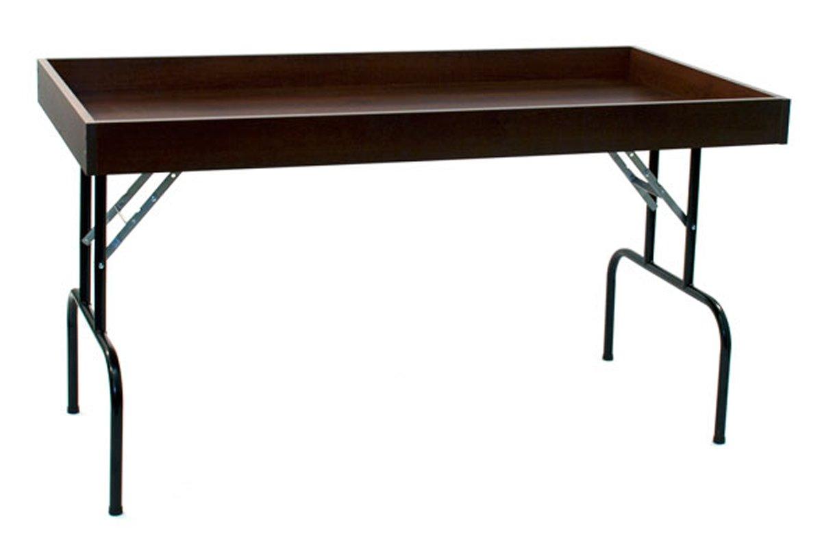 Retail Display Dump Folding Table 30''W x 60''L Ship Knockdown Chocolate Cherry Lot of 2 NEW