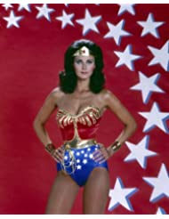 Wonder Woman Lynda Carter busty pose in costume super hero 8x10 Promotional Photograp