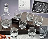 Italian Collection Decanter With Shot Glasses Set, Swarovski Crystals, Lead Free