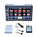 7 Double 2 Din Touchscreen In Dash GPS Car Stereo Radio Mp3 Player FM Aux With Rear View Camera