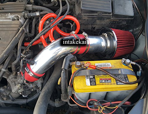 Performance Air Intake for 2003 2004 2005 2006 HONDA ACCORD 2.4L l4 ENGINE WITHOUT MAF SENSOR (Excluded SULEV LEV2 Engine) (RED)