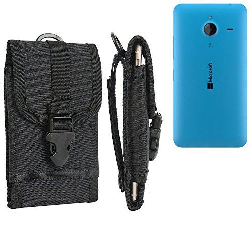 bolsa del cinturón / funda para Microsoft Lumia 640 XL LTE Dual SIM, negro   caja del teléfono cubierta protectora bolso - K-S-Trade (TM)