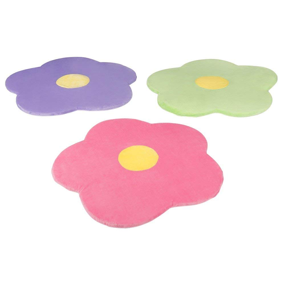 Flower Area Rug for Kids Girls Room, Girls Area Rugs, Girls Room & Baby Nursery Floor Rugs, Kids Room Decorative 25 Daisy Flower Pink Rug Mat (Set of 3) Heart To Heart DR-SET