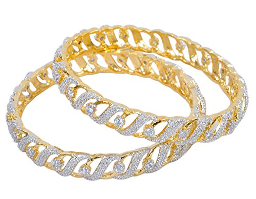 Ethnic Bollywood Fashion Gold Tone Indian Bangles Bracelet - Indian Traditional Wear