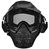 OLSUS Protective Outdoor Full Face Shield Mask - Black