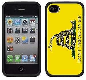 Don't Tread On Me Gadsden Flag Handmade iPhone 4 4S Black Case