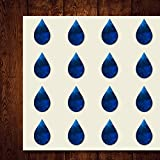Rain Drop Tear Drop Craft Stickers, 44 Stickers at 1.5 Inches, Great Shapes for Scrapbook, Party, Seals, DIY Projects, Item 1321770