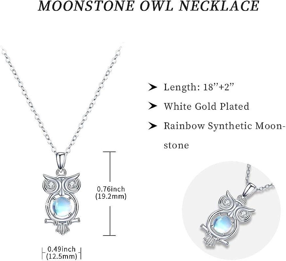 Moonstone Garnet Gemstone Owl Pendant For Valentine/'s Day 925 Sterling Silver Handmade Designer Pendant Jewelry Length 1.8 svp7827