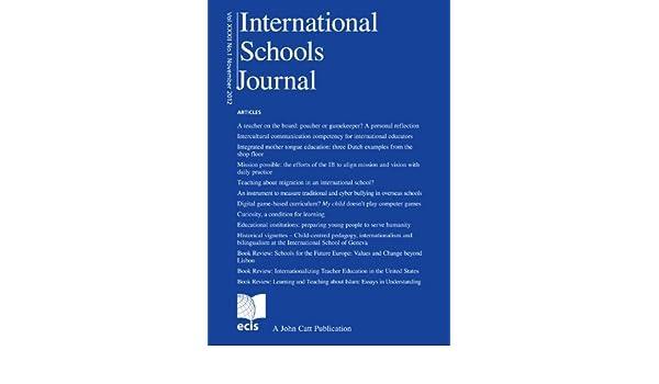 International Schools Journal Vol XXXII No.1 November 2012