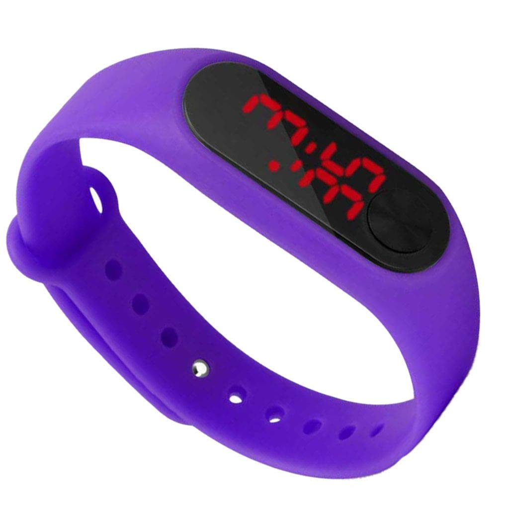 Riverlily Screen Display Children Thin Digital Wrist Watch Student Fitness Wristband Boy Girl Sports Supplies by Riverlily (Image #2)