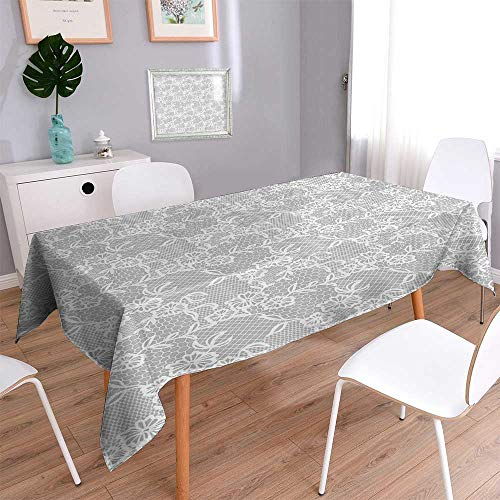 Vanfan Decorative Jacquard Rectangle Tablecloth Islamic Inspired Oriental Turkish Lacewith Traditial Impressi Table Cover for Dining Room and Party 60''x102'' by Vanfan