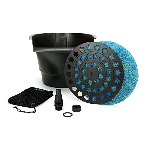 (Aquascape Pond Filter and Waterfall Spillway, Efficient Mechanical and Biological Filtration, Compact | 77020)