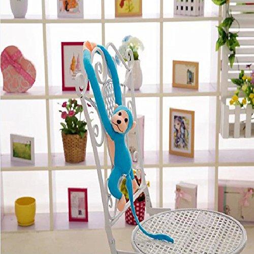LISASTOR 70cm Plush Stuffed Long Arm Monkey With Velcro Paws For Household Decor (Blue)