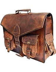 16 Genuine Leather messenger bag for men convertible laptop backpack shoulder bag