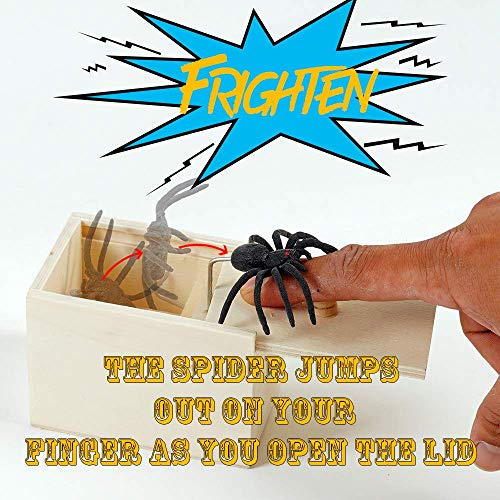 Kikole Spider Prank Scare Box,Wooden Surprise Box,Handmade Fun Practical Surprise Joke Boxes ,Ga - http://coolthings.us