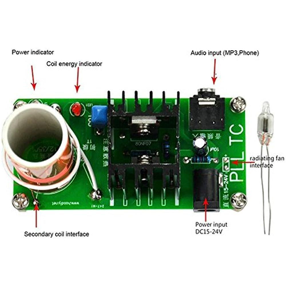 DC Speakers 15-24V 15W Mini Music Tesla Coil Plasma DIY ...