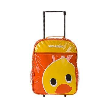 Maleta para niños Bolso de escuela de dibujos animados Maleta de ocio Mochila trolley Adecuado para niños y niñas en los grados 2-6,Duck: Amazon.es: ...