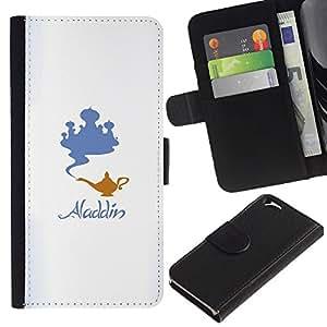 """A-type (Aladdin"""") Colorida Impresión Funda Cuero Monedero Caja Bolsa Cubierta Caja Piel Card Slots Para Apple (4.7 inches!!!) iPhone 6 / 6S"""