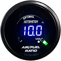HOTSYSTEM New Auto Car 2 52mm Digital Color Analog LED Air/Fuel Ratio Monitor Gauge