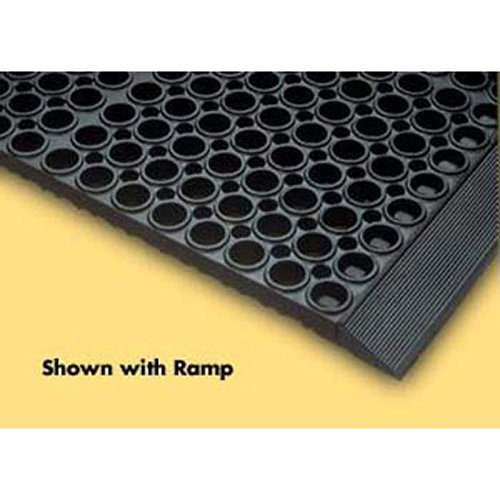 Nitrile Rubber San-Eze Safety/Anti-Fatigue Mat, for Wet or Greasy Areas, 39