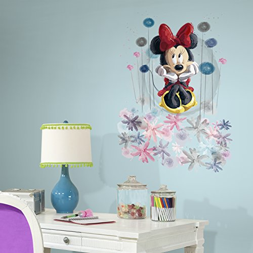 RoomMates RMK3068TB Minnie Floral Peel and Stick Giant Wall Graphic
