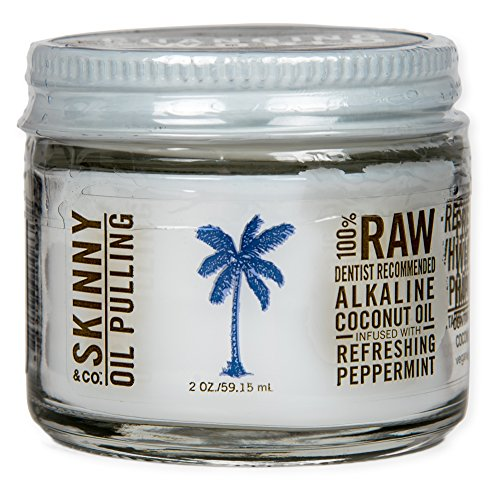 Skinny & Co. Coconut Oil Peppermint Oil Pulling Jar (2 oz) (Coconut Oil First Pressed compare prices)