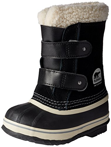 Sorel Childrens 1964 Pac Strap Snow Boot, Black - 13 M US Little Kid ()