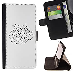 BullDog Case - FOR/Apple Iphone 6 PLUS 5.5 / - / ABSTRACT BLACK PATTERN MAP SPOTS /- Monedero de cuero de la PU Llevar cubierta de la caja con el ID Credit Card Slots Flip funda de cuer