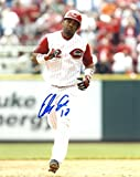 DAN DRIESSEN CINCINNATI REDS SIGNED AUTOGRAPHED W/ BAT 8X10 PHOTO W/COA