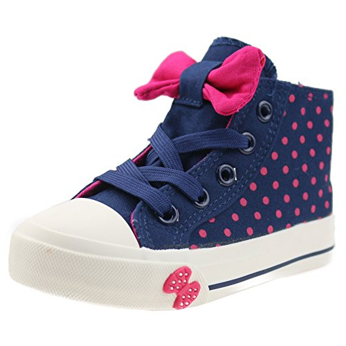 Orgrimmar Girls High-top Lace Bows Canvas Shoes