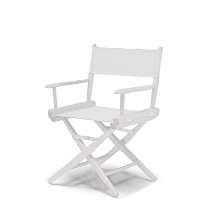 Telescope Casual World Famous Dining Height Director Chair, White With  White Frame