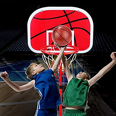 Kids Basketball Hoop Hanging Basketball Hoop Mini Basketball Netball Hoop Set Indoor Outdoor Basketball Board with Ball and Pump for Children Kids Game Toy: Sports & Outdoors
