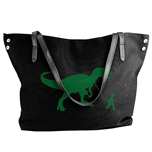 Large Shoulder Canvas Hobo Handbag Tote Women's Handbag Dinosaur Rex Black Pet T Bag Tote 5t6qwwzS