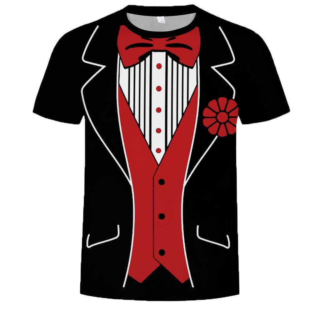 Xilocce Fashion Mens Letter Splicing Printing Comfort Flex Shirt Short Sleeve T-Shirt Blouse Tops