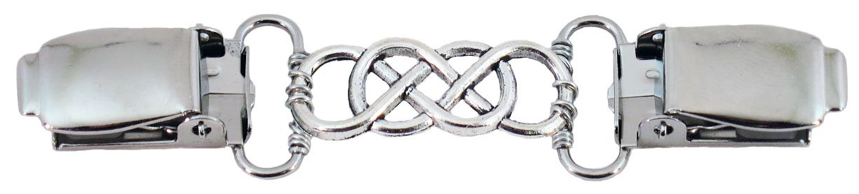 Silver Triple Infinity Cardigan Clip