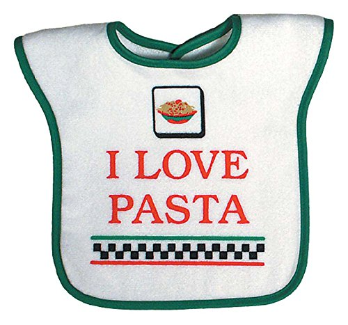 Raindrops I Love Pasta Screen Printed Bib, (Pasta Screen)