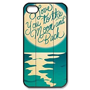 2015 customized I love you to the moon and back DIY Case for Iphone 4,4S, Custom I love you to the moon and back Case