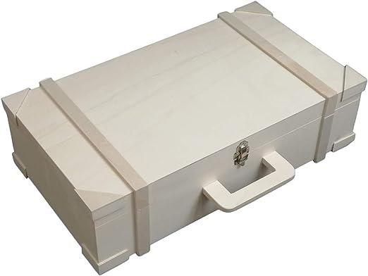 Maleta de madera rectangular Medida: 54 * 30 * 14 cms. En madera ...