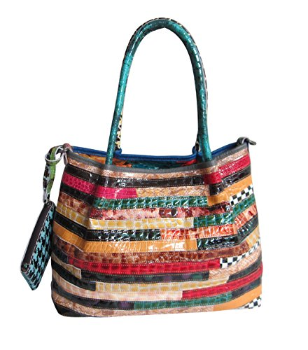 Tote Animal Handbag Print (AmeriLeather Everly Animal Print Rainbow Convertible Tote (Rainbow))