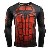 Hero Collection Fitness Compression Shirt Men Long Sleeve 3D T-Shirt Superhero Captain America Brand Clothing Marvel T Shirt M