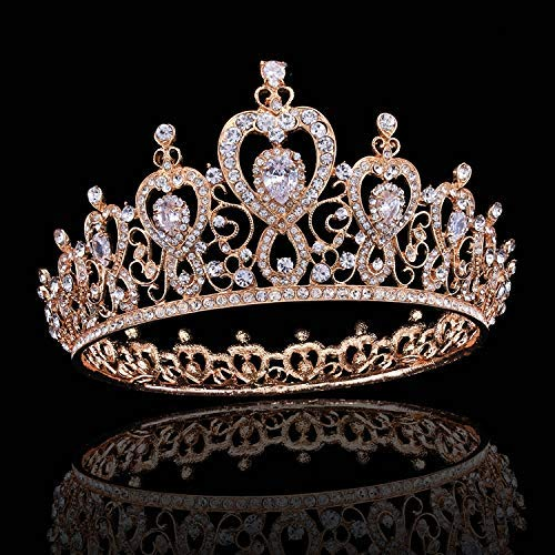 Wedding Crown, Beautiful headdress/Queen'S Baroque Crown Decorations Luxurious Zircon Bridal Crown Court Wedding Accessories by Junson (Image #3)