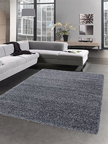 Shaggy tappeto a pelo lungo tappeti pelosi deep-pile palo moquette del salotto uni grigio Größe 60x110 cm Carpetia