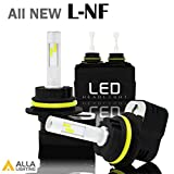 9007 5000k headlight bulbs - Alla Lighting 2017 Newest Version 8400 Lumens Extremely Super Bright Cool White High Power Mini 9007 HB5 LED Headlight Bulbs Conversion Kits Headlamps Replacement with Turbine Heating
