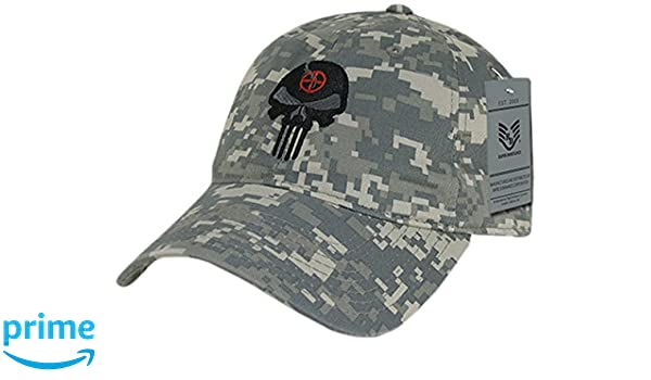 RapDom Punisher Skull Graphic Relaxed Mens Cap
