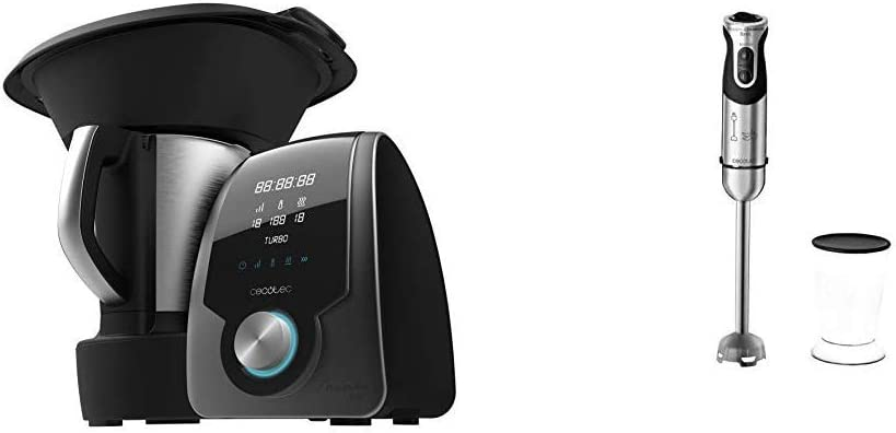 Cecotec Robot de Cocina Multifunción Mambo 7090 + Batidora de Mano Powerful Titanium 1000: Amazon.es: Hogar