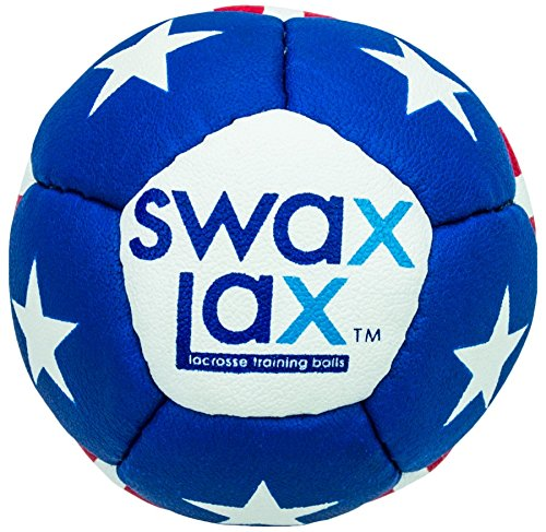 Swax Lax Lacrosse Training Ball (Stars n Stripes) - Same Size and Weight as Regulation Lacrosse Ball but Soft - No Rebounds, Less Bounce Practice Ball