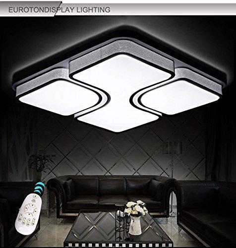LED Deckenleuchte 2021 675X675 54W Acryl Schirm Weiss Lackierte Rahmen Durchbohrte Design Mit Fernbedienung Lichtfarbe Helligkeit Einstellbar