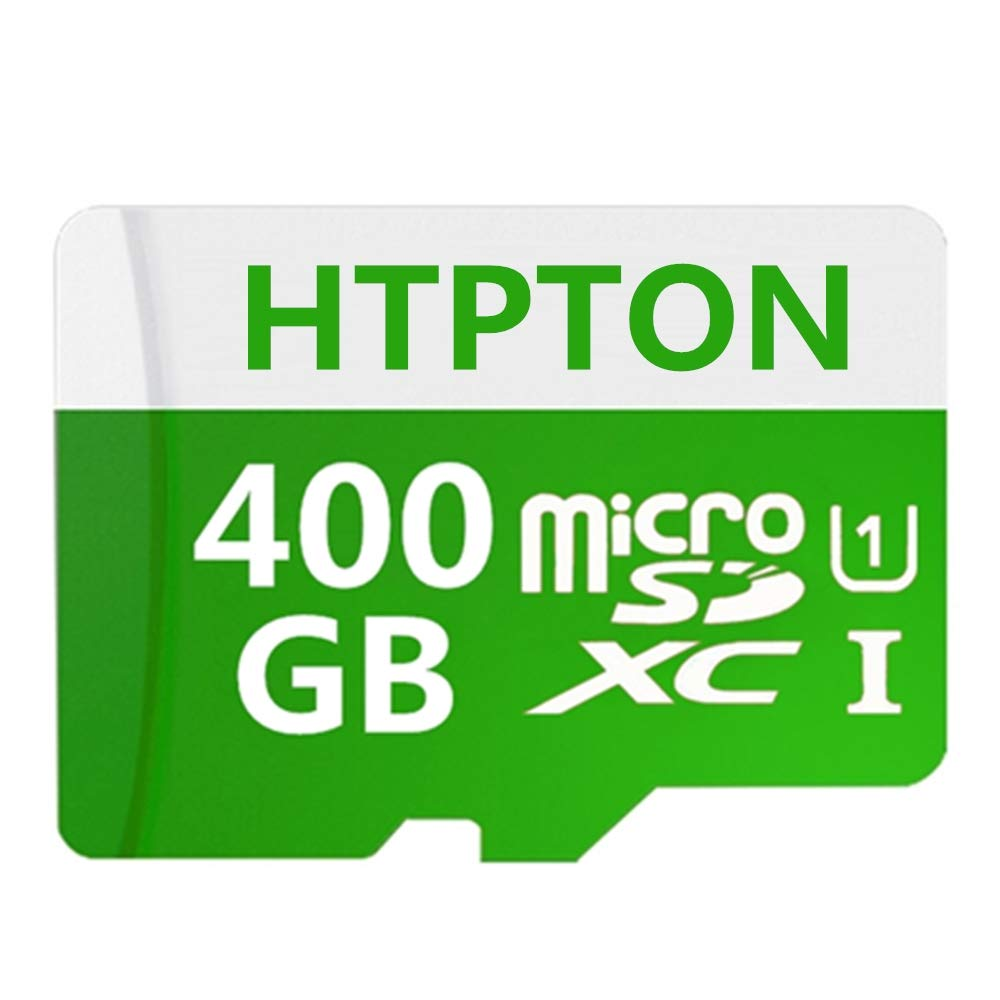 HTPTON 400GB Micro SD SDXC Card High Speed Class 10 Memory SD Card with SD Adapter